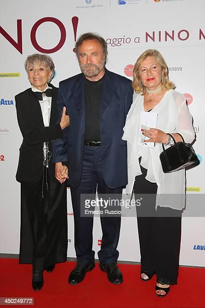 Erminia Ferrari Franco Nero and Bianca Maria Caringi Lucibelli attend the Homage To Nino Manfredi photocall at Auditorium della Conciliazione on June...