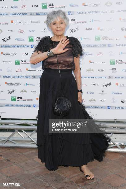 Erminia Ferrari Manfredi attends the Nastri D'Argento cocktail party on June 30 2018 in Taormina Italy