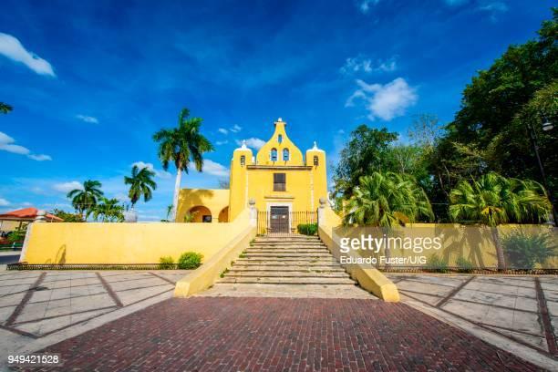 ermita de santa isabel, colonial church in merida, yucatan, mexico, central america - yucatan stock pictures, royalty-free photos & images
