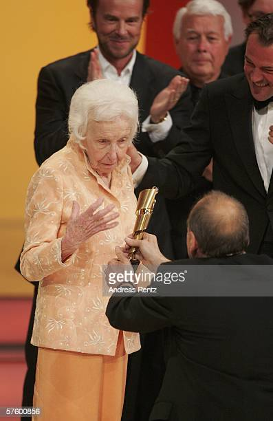 Erna Baumbauer receives the award for her lifetime achievement at the German Film Awards at the Palais am Funkturm May 12 2006 in Berlin Germany