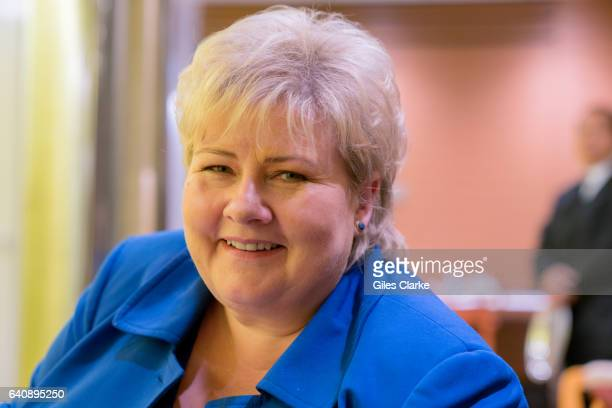 Erna Solberg photographed at the United Nations Headquarters in New York City September 22 2016 Solberg has been Prime Minister of Norway since...