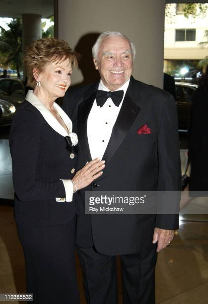 Ernest Borgnine and Tova Borgnine during 2003 Society of Singers ELLA Awards Arrivals at The Beverly Hilton in Beverly Hills California United States