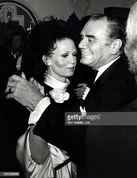 Ernest Borgnine and Tova Borgnine during After Party of Lucille Balls Premiere in Mame at Pacifics Cinerama Dome Theatre in Los Angeles California...