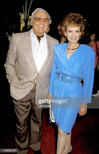 Ernest Borgnine and Tova Borgnine during Crocodile Dundee II Los Angeles Premiere at Mann's Chinese Theater in Hollywood California United States