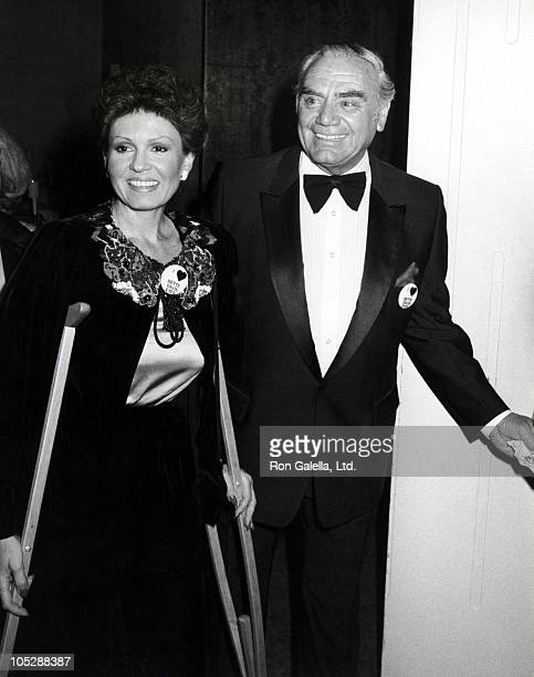 Ernest Borgnine and Tova Borgnine during Film Advisory Board Dinner April 3 1982 at Beverly Hilton Hotel in Beverly Hills California United States