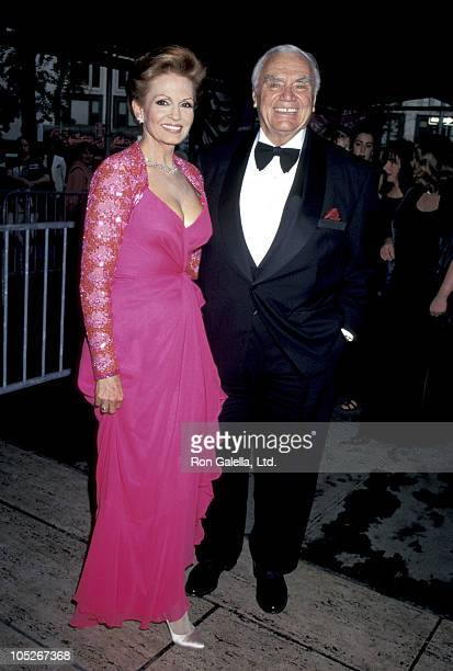 Ernest Borgnine and Tova Borgnine during Fragrance Foundation 24th FiFi Awards at Lincoln Center Avery Fisher Hall in New York City New York United...