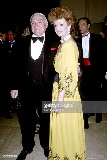 Ernest Borgnine and Tova Borgnine during Society of Singers December 3 1990 at Beverly Hilton Hotel in Beverly Hills California United States
