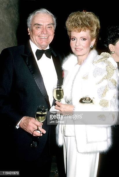 Ernest Borgnine and Tova Borgnine during Tribute to Madam Jehan Sadat at Century Plaza Hotel in Los Angeles California United States