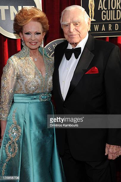 Ernest Borgnine and wife Tova Borgnine arrive at the TNT/TBS broadcast of the 17th Annual Screen Actors Guild Awards held at The Shrine Auditorium on...