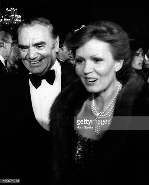 Ernest Borgnine and wife Tova Borgnine attend Nineth Annual American Film Institute Lifetime Achievement Awards Honoring Fred Astaire on April 10...