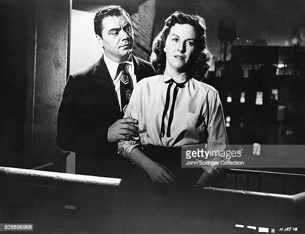Ernest Borgnine as Marty Piletti and Betsy Blair as Clara Snyder in the 1955 best picture winning film Marty