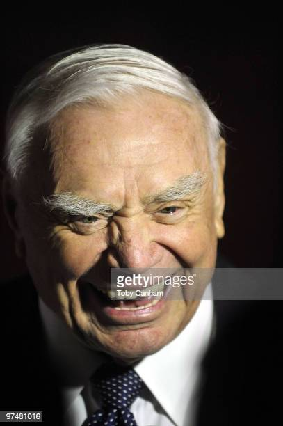 Ernest Borgnine poses for a picture at the Ernest Borgnine PreOscar party at Universal Studios Hollywood on March 5 2010 in Universal City California