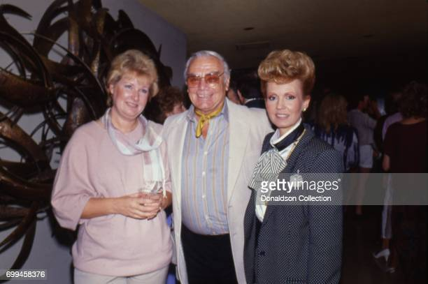 Ernest Borgnine with his wife Tava Borgnine from a publicity shoot for AIRWOLF Season 3 premiere 'The Horn Of Plenty' in August 1985 Woman on left is...