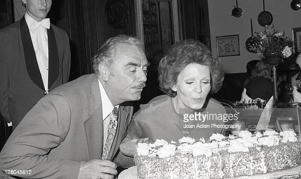 Ernest Borgnine with wife Tova at launch party her Tova 9 cactus masque on May 12 1978 at the in Los Angeles California