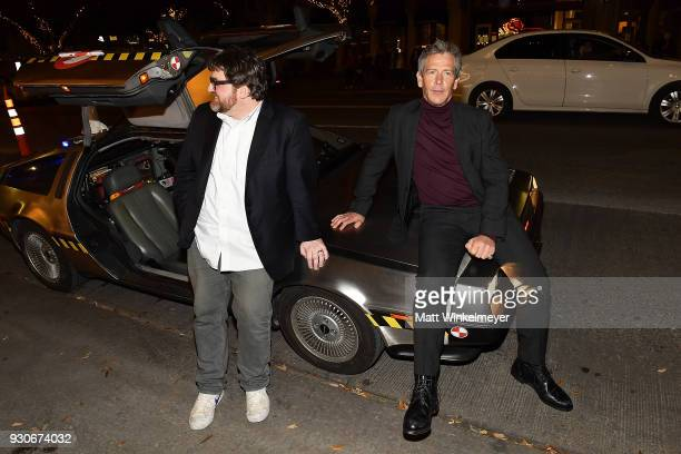 Ernest Cline and Ben Mendelsohn attend 'Ready Player One' Premiere 2018 SXSW Conference and Festivals at Paramount Theatre on March 11 2018 in Austin...