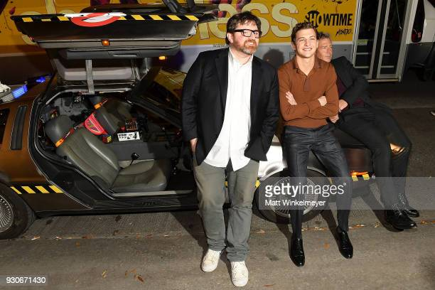 Ernest Cline Tye Sheridan and Ben Mendelsohn attend 'Ready Player One' Premiere 2018 SXSW Conference and Festivals at Paramount Theatre on March 11...