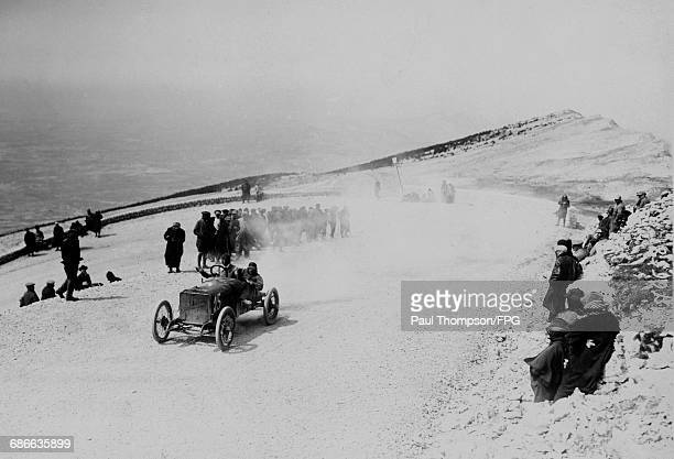 Ernest Grua aboard the Hispano Suiza Alfonso XIII during the Mont Ventoux Hill Climb on 5 September 1909 at Mont Ventoux near Avignon France