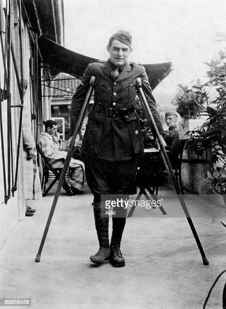 Ernest Hemingway american novelist here during his convalescence in Milan, Italy in 1918