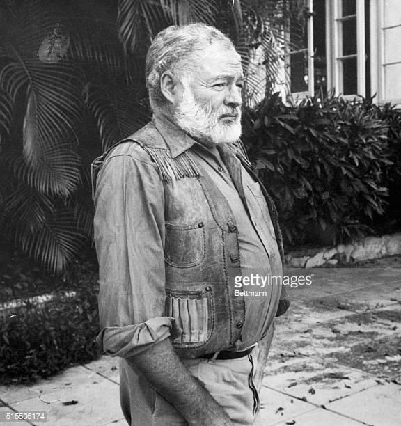 Ernest Hemingway, , American writer, in an undated photograph.