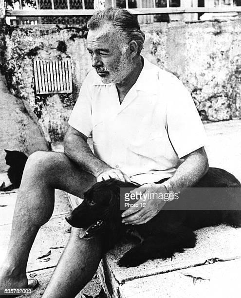 Ernest Hemingway and his dog United States