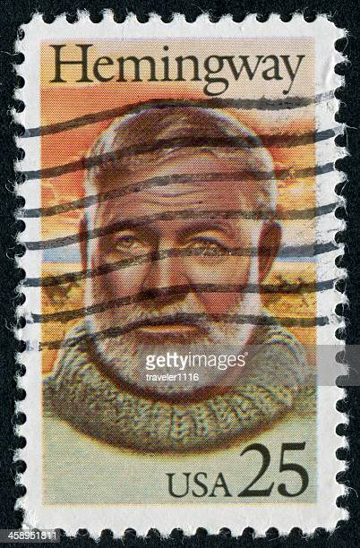 ernest hemingway stamp - ernest hemingway stock photos and pictures