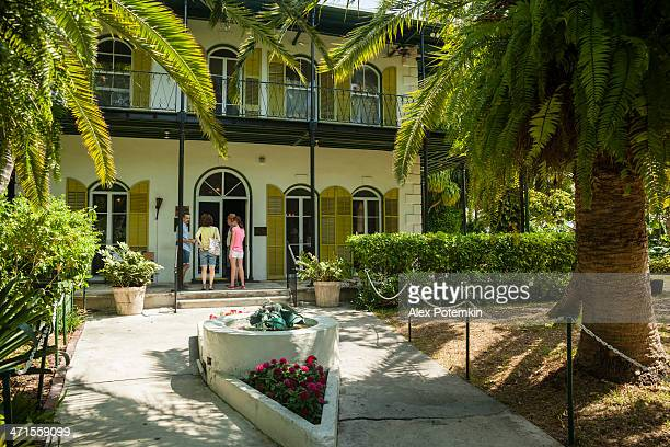 ernest hemingway's memorial house  in key west, florida, usa - ernest hemingway stock photos and pictures
