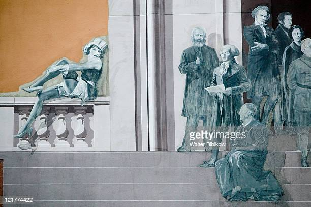 ernest pignon fresco, great thinkers and woman - philosophy stock pictures, royalty-free photos & images