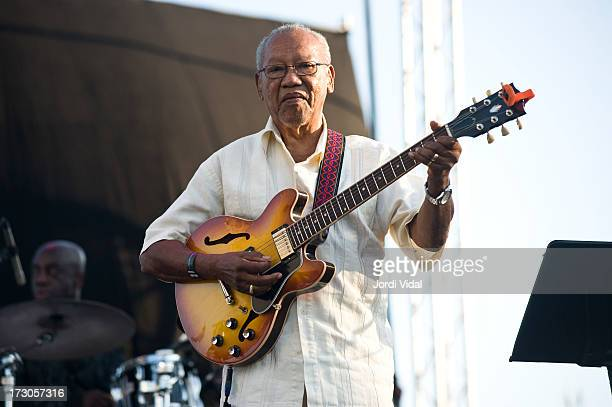 Ernest Ranglin performs on stage on Day 1 of Cruilla Barcelona Festival 2013 at Parc Del Forum on July 5 2013 in Barcelona Spain