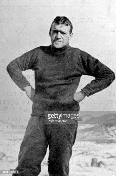 Ernest Shackleton British explorer Antarctica 1909 Shackleton during his expedition of 19081909 on board the 'Nimrod' He made three expeditions to...