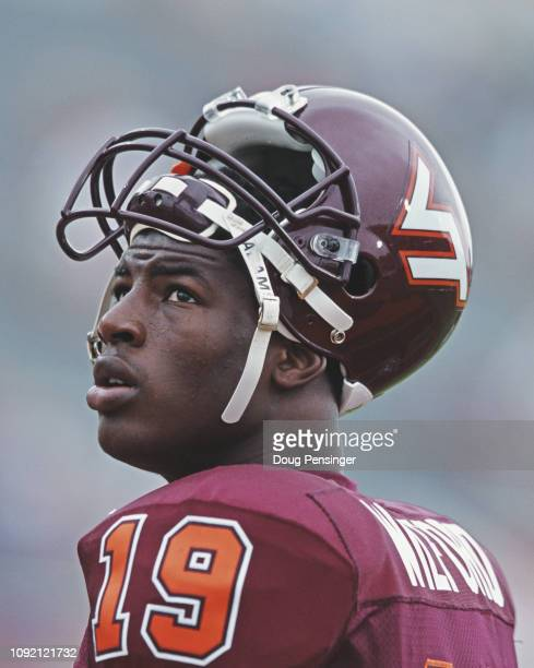 Ernest Wilford Wide Receiver for the Virginia Tech Hokies during the NCAA MidAmerican Conference college football game against the University of...