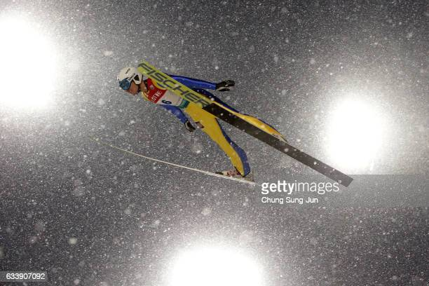 Ernest Yahin of Russia competes in the Individual Gundersen LH 10km during the FIS Nordic Combined World Cup presented by Viessmann Test Event For...