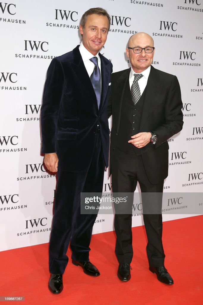 Ernesto Bertarelli and Georges Kern attend the IWC Schaffhausen Race Night event during the Salon International de la Haute Horlogerie (SIHH) 2013 at Palexpo on January 22, 2013 in Geneva, Switzerland.