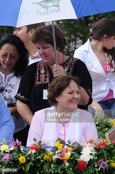 Ernesto Che Guevara's widow Aleida March and her daugther Aleida Guevara take part in the celebration of the 29th anniversary of the Sandinista...