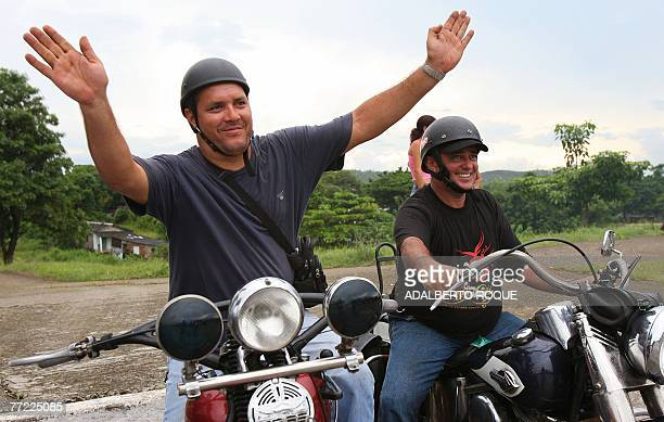 Ernesto Guevara March the youngest son of revolutionary leader Ernesto Che Guevara waves as he joins a group of Harley Davidson fanatics in a...