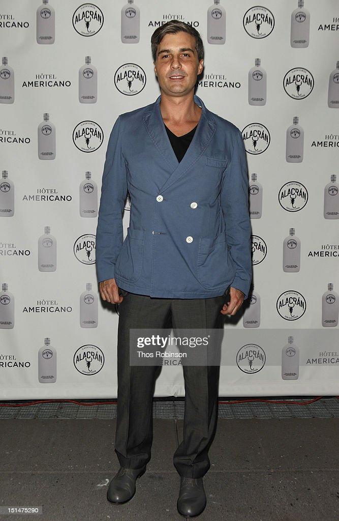 Ernesto Ibarra Henkel attends Autentico Tequila Alacran Debuts Their Mezcal Alacran at Hotel Americano In NYC on September 7, 2012 in New York City.