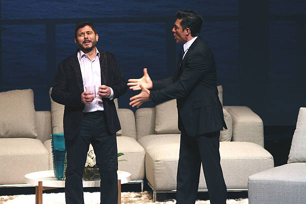 Ernesto Laguardia and Fernando Colunga perform in 'Obscuro Total' At Bellas Artes on March 2, 2014 in San Juan, Puerto Rico.