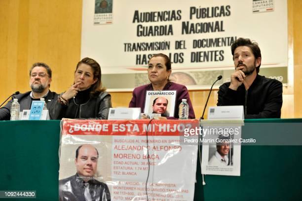 CITY MEXICO JANUARY 10 Ernesto Lopez Portillo Vargas Tatiana Clouthier Mexican politician Martha Tagle Martínez Lucia Baca and Mexican actor Lucia...