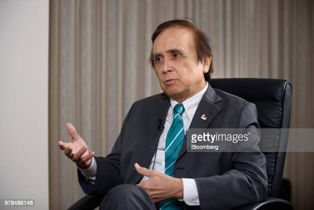 Ernesto Pernia the Philippine's economic planning secretary poses for a photograph in Tokyo Japan on Tuesday June 19 2018 Philippine economy can...