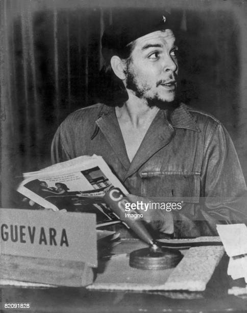 Ernesto Rafael Guevara de la Serna commonly known as Che Guevara gives a press conference Photograph Um 1955 [Ernesto Rafael Guevara de la Serna...