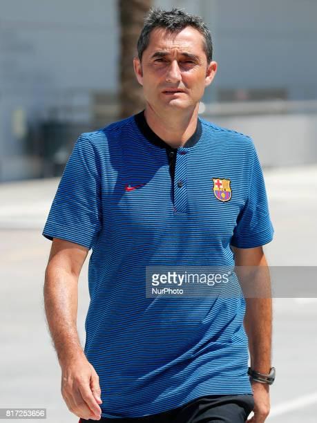 Ernesto Valverde after the FC Barcelona training on 17 july 2017 Photo Joan Valls/Urbanandsport/Nurphoto