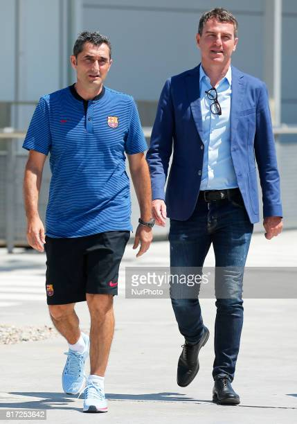 Ernesto Valverde and Robert Fernandez after the FC Barcelona training on 17 july 2017 Photo Joan Valls/Urbanandsport/Nurphoto