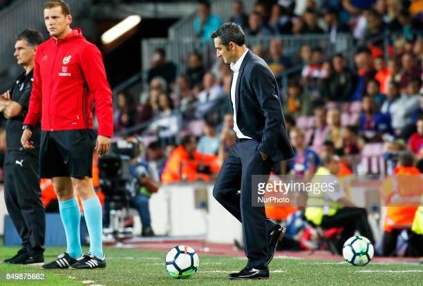 Ernesto Valverde during La Liga match between FC Barcelona v SC Eibar in Barcelona on September 19 2017