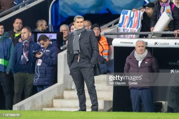 Ernesto Valverde head coach of Barcelona on the sideline during the Espanyol V Barcelona La Liga regular season match at RCDE Stadium on January 4th...