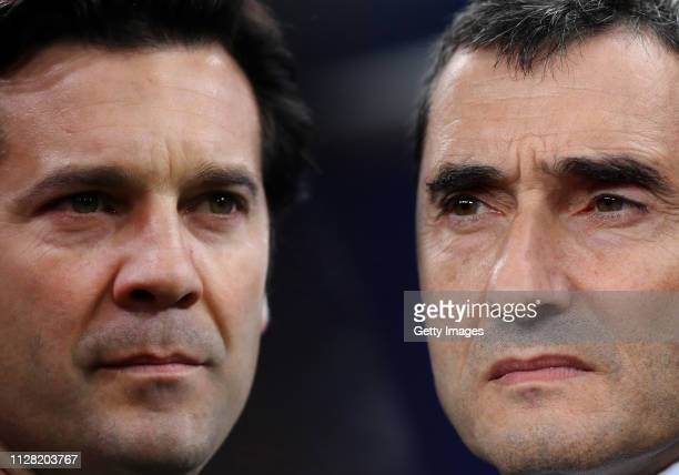 Ernesto Valverde, Manager of Barcelona looks on prior to the Group B match of the UEFA Champions League between Tottenham Hotspur and FC Barcelona at...
