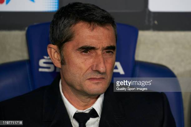Ernesto Valverde, Manager of FC Barcelona looks on prior to the Liga match between RCD Espanyol and FC Barcelona at RCDE Stadium on January 04, 2020...