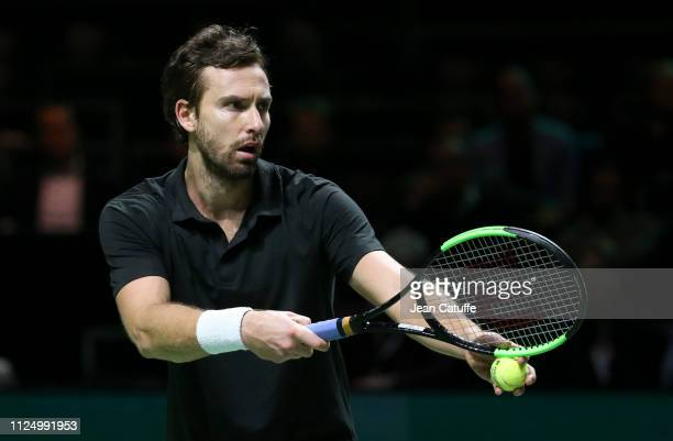 Ernests Gulbis of Latvia during Day 4 of the ABN AMRO World Tennis Tournament at Rotterdam Ahoy on February 14 2019 in Rotterdam Netherlands