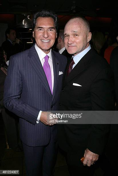 Ernie Anastos and NYPD commissioner Ray Kelly during Fox 5 Hosts a Party Celebrating the 40th Anniversary of the 10 PM News Show at Fresco II On The...