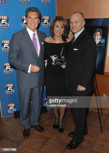 Ernie Anastos Rosanna Scotto and Raymond Kelly during Fox 5 Celebrates The 4th Anniversary Of The 10 PM News March 15 2007 at Fresco On The Go in New...