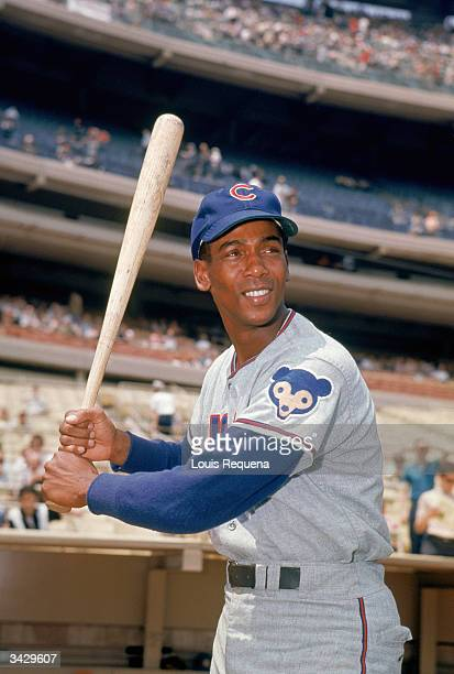Ernie Banks of the Chicago Cubs poses for a portrait circa 195371