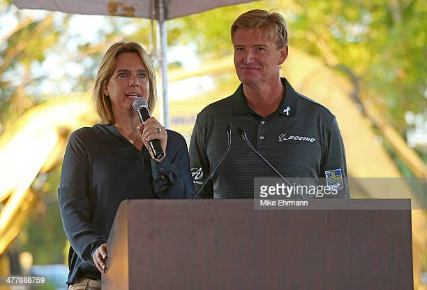Ernie Els and wife Liezl Els Els break ground for the Els Center for Autism prior to the Autism Proam at The PGA National Golf Club on March 10 2014...